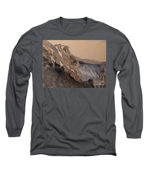 Mountain Cliff Long Sleeve T-Shirt by Nancy Kane Chapman
