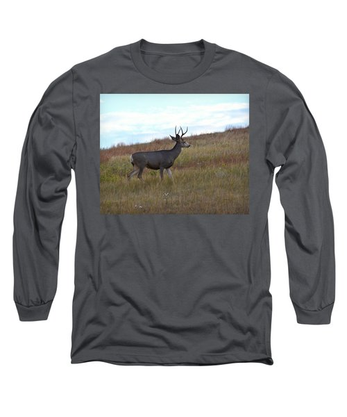 Mountain Climbing Deer Long Sleeve T-Shirt
