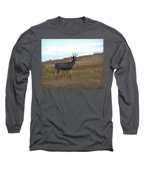 Mountain Climbing Deer Long Sleeve T-Shirt