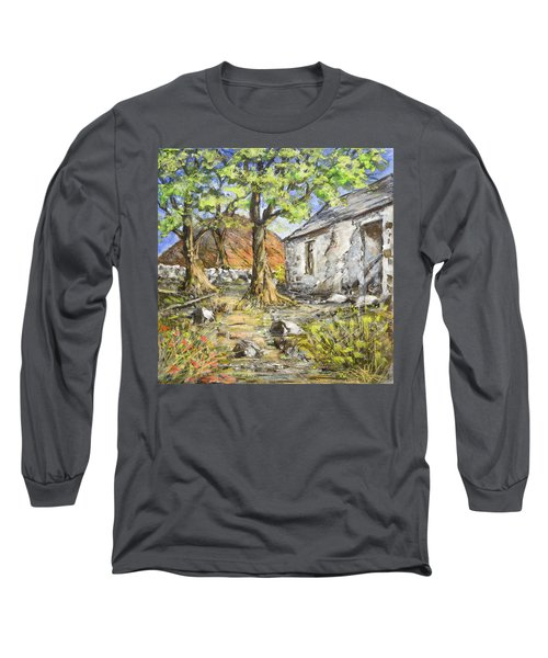 Mountain Cottage Long Sleeve T-Shirt by Marty Garland