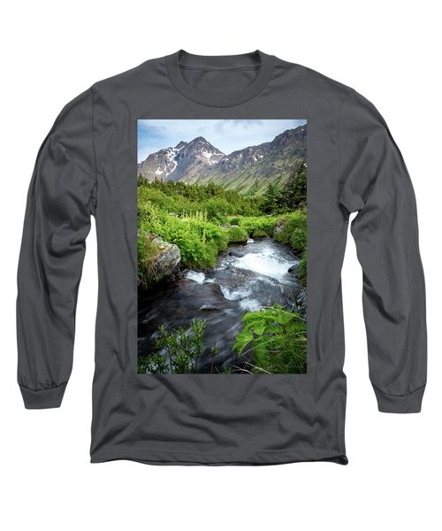Mountain Creek In Early Summer Long Sleeve T-Shirt