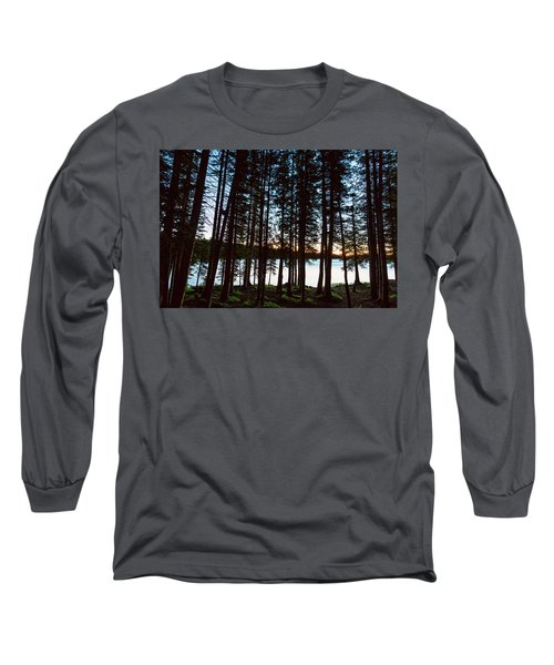 Long Sleeve T-Shirt featuring the photograph Mountain Forest Lake by James BO Insogna
