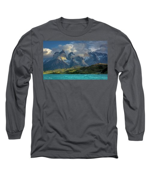 Mountain Glimmer Long Sleeve T-Shirt by Andrew Matwijec
