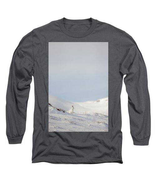 Mountain Hare On Hillside Long Sleeve T-Shirt