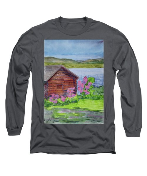 Mountain Laurel By The Cabin Long Sleeve T-Shirt