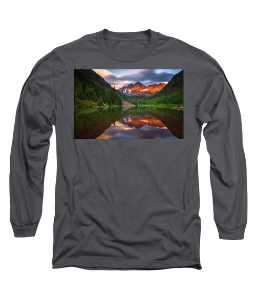 Long Sleeve T-Shirt featuring the photograph Mountain Light Sunrise by Darren White