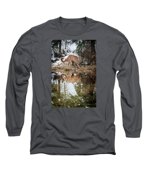 Mountain Lion Reflection Long Sleeve T-Shirt