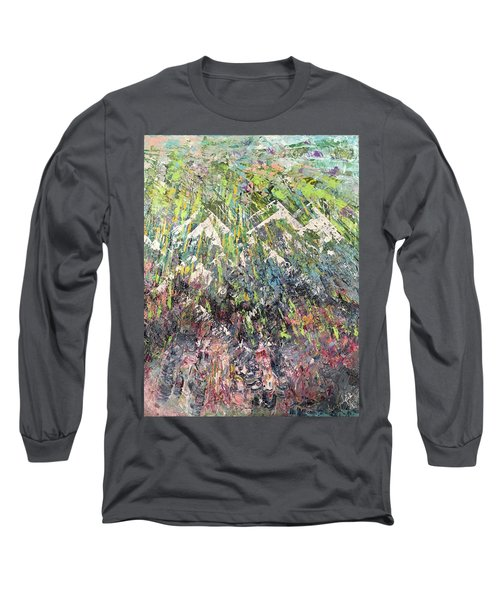 Mountain Of Many Colors Long Sleeve T-Shirt by George Riney
