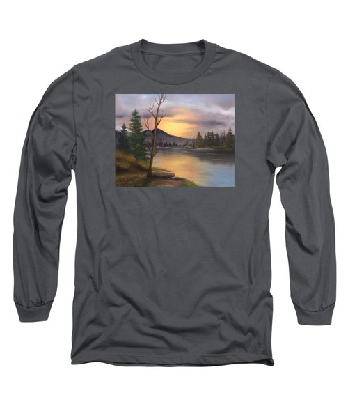Mountain Paradise Long Sleeve T-Shirt by Sheri Keith
