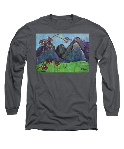 Copper Mountain Pose Long Sleeve T-Shirt