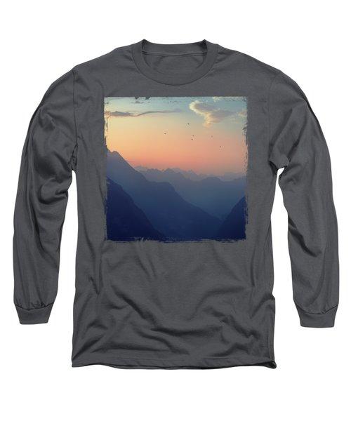 Mountain Sunrise - Pastel Alps Long Sleeve T-Shirt