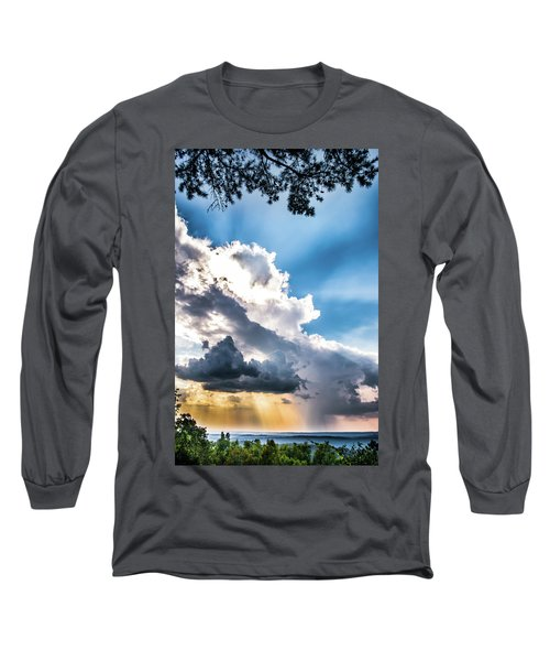 Long Sleeve T-Shirt featuring the photograph Mountain Sunset Sightings by Shelby Young