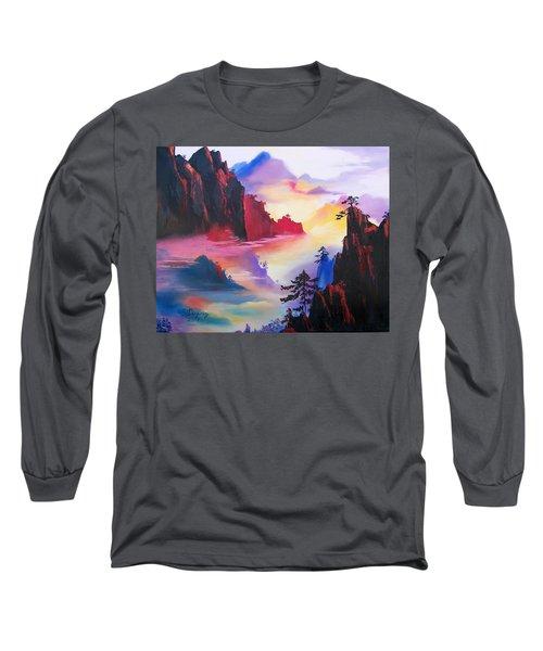 Mountain Top Sunrise Long Sleeve T-Shirt