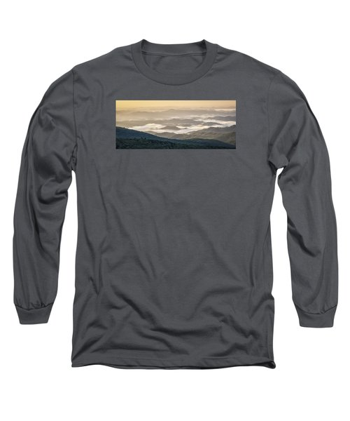 Mountain Valley Fog - Blue Ridge Parkway Long Sleeve T-Shirt