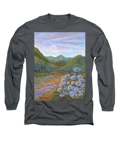 Mountains And Asters Long Sleeve T-Shirt