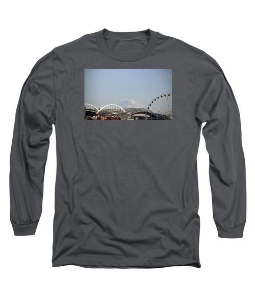 Mountains And City Long Sleeve T-Shirt