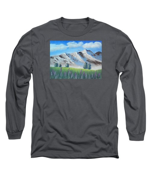Mountains Long Sleeve T-Shirt by Brenda Bonfield