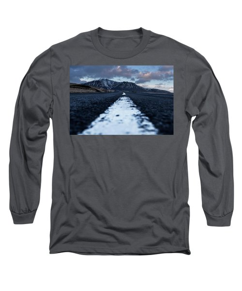 Mountains In Iceland Long Sleeve T-Shirt