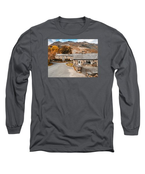 Mountains In The Back Yard Long Sleeve T-Shirt