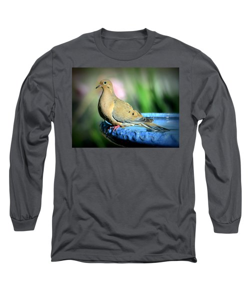 Mourning Dove Perched Long Sleeve T-Shirt