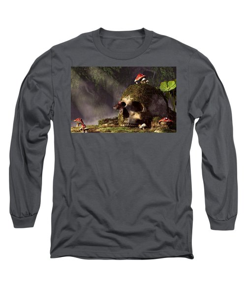 Mouse In A Skull Long Sleeve T-Shirt