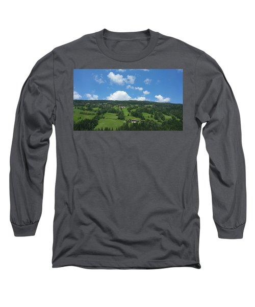 Moutain With Blue Sky Long Sleeve T-Shirt