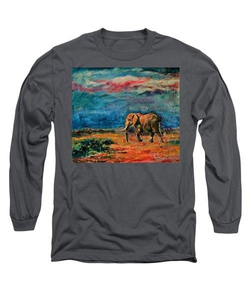 Moving Away Long Sleeve T-Shirt by Khalid Saeed