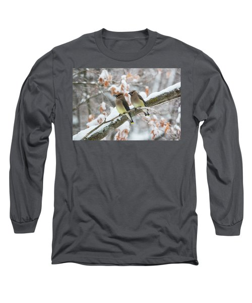 Mr. And Mrs. Cedar Wax Wing Long Sleeve T-Shirt