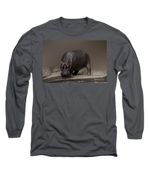Mr. Hippo Long Sleeve T-Shirt by Charuhas Images