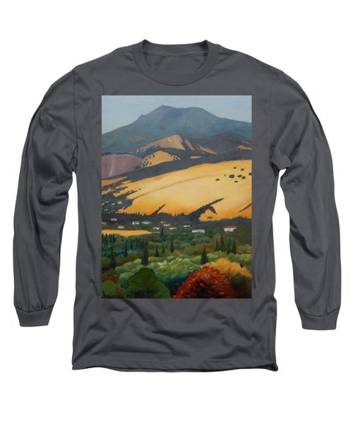 Long Sleeve T-Shirt featuring the painting Mt. Diablo Above by Gary Coleman