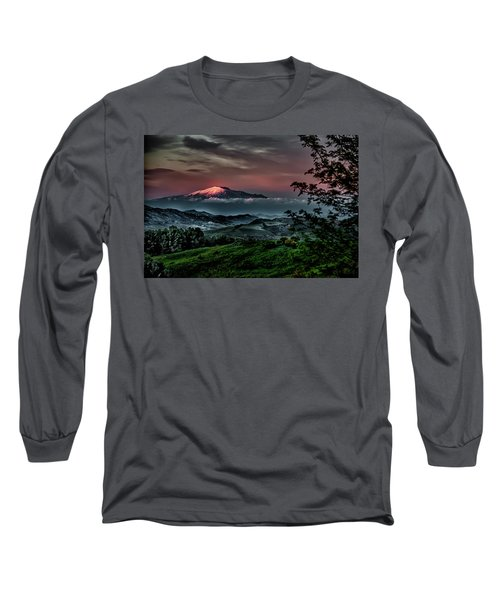 Mt. Etna I Long Sleeve T-Shirt by Patrick Boening