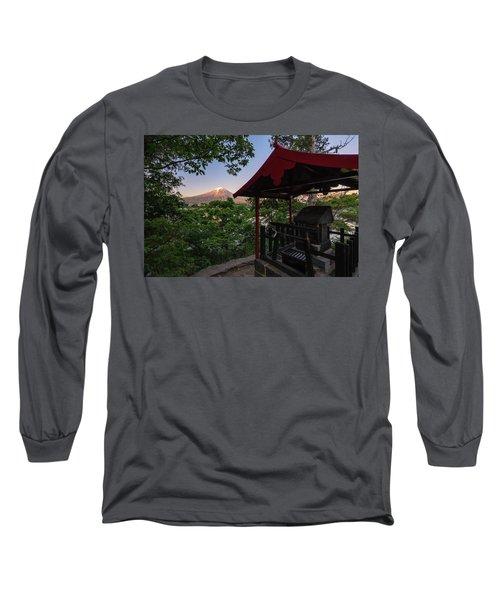 Mt Fuji From Ubuyagasaki Shrine Long Sleeve T-Shirt