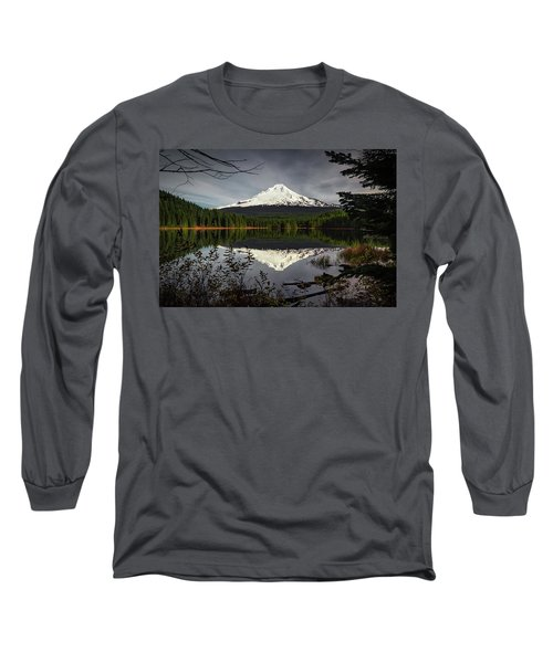 Mt Hood Reflection Long Sleeve T-Shirt