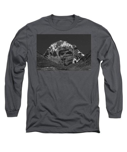 Mt. Kailash In Moonlight, Dirapuk, 2011 Long Sleeve T-Shirt
