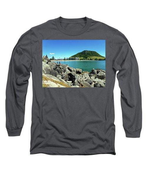 Mt Maunganui Beach 11 - Tauranga New Zealand Long Sleeve T-Shirt