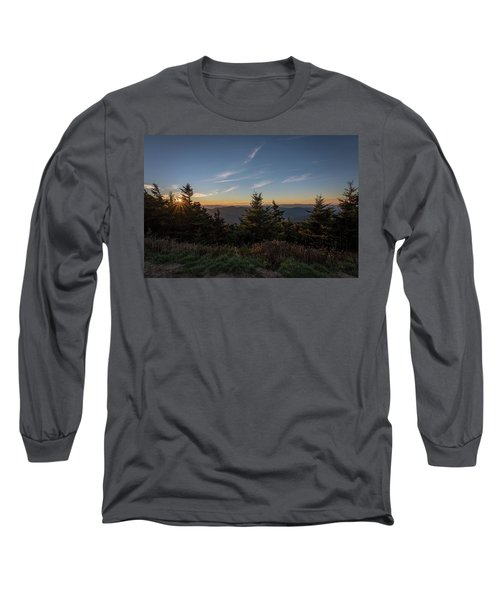 Mt Mitchell Sunset North Carolina 2016 Long Sleeve T-Shirt by Terry DeLuco
