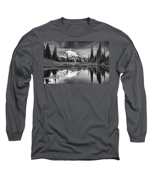 Mt Rainier In Reflection Long Sleeve T-Shirt