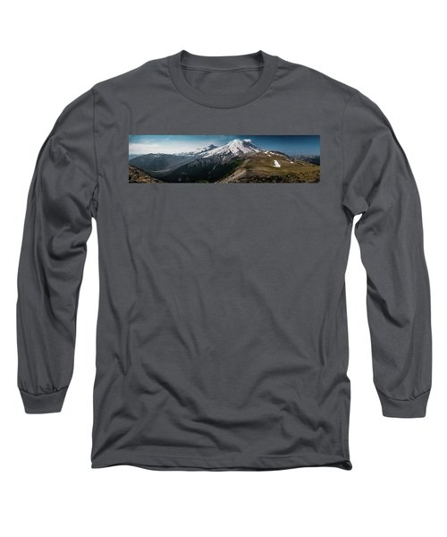 Mt. Rainier Panoramic Long Sleeve T-Shirt