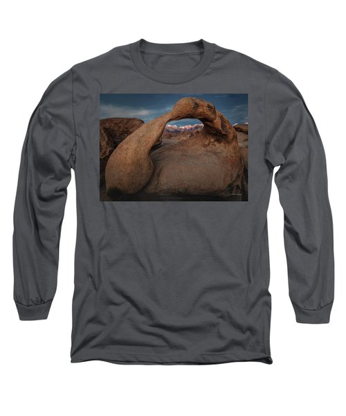 Mt. Whitney Through Mobius Arch Long Sleeve T-Shirt
