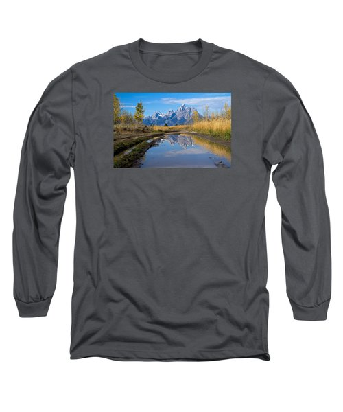 Mud Puddle Reflection Long Sleeve T-Shirt