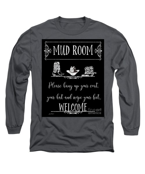 Long Sleeve T-Shirt featuring the digital art Mud Room-d by Jean Plout