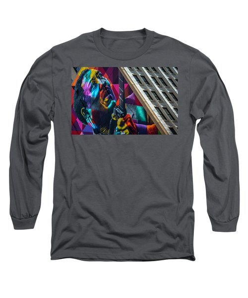 Muddy Waters Chicago State Street Dsc2224 Long Sleeve T-Shirt by Raymond Kunst