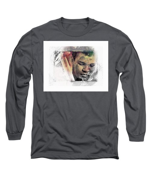 Muhammad Ali Long Sleeve T-Shirt by Allen Beilschmidt