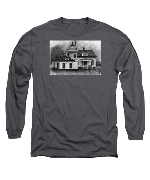 Mukilteo Lighthouse Sketched Long Sleeve T-Shirt by Kirt Tisdale