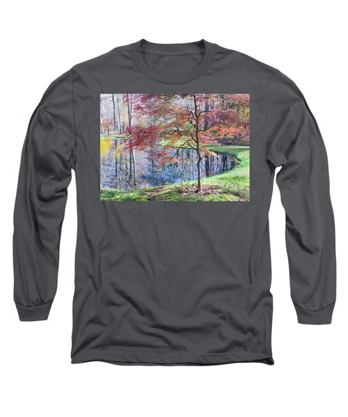 Multi Color Japanese Maple Long Sleeve T-Shirt