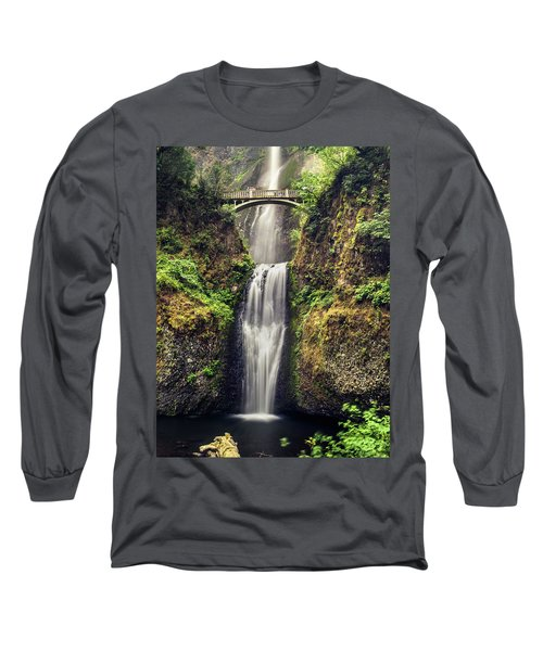 Multnomah Falls Lower Long Sleeve T-Shirt