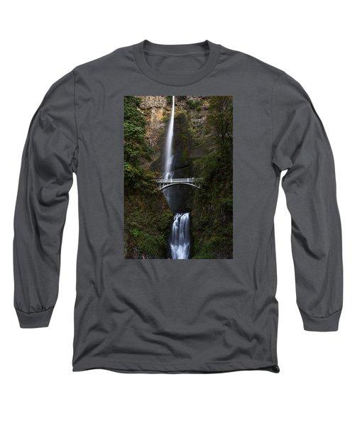 Multonomah Falls Long Sleeve T-Shirt by John Gilbert