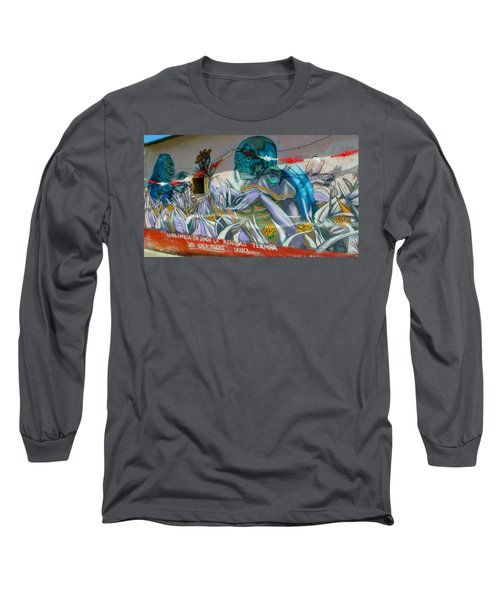 Mural @ Oaxaca Mexico Long Sleeve T-Shirt