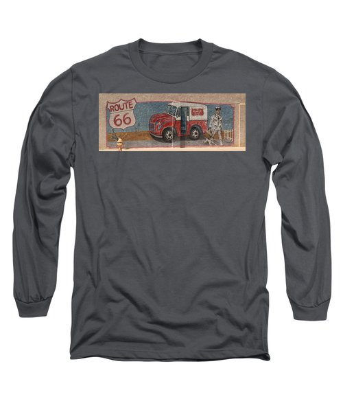 Mural On Historic Route 66 Long Sleeve T-Shirt