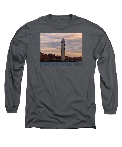 Long Sleeve T-Shirt featuring the photograph Murano Lighthouse by Laura Ragland